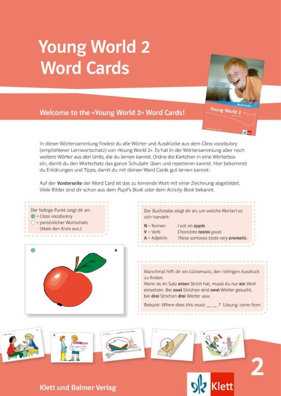 Young World 2 - NEU / Word Cards - NEU